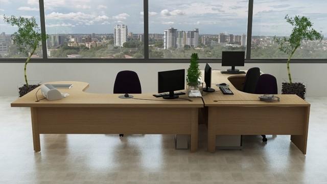 Mesa de Canto Estação de Trabalho para Escritório Preço Cotia - Estação de Trabalho 6 Lugares