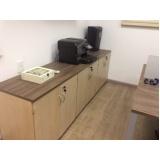 armário para escritório de madeira Barueri