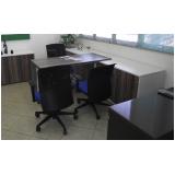 comprar mesa para escritório com armário Jandira