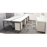 mesa para escritório branca preço Carapicuíba