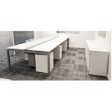 mesa para escritório branca preço Barueri