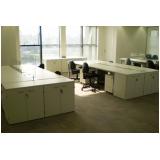 mesa para escritório branca Jandira
