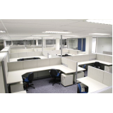 mesa para escritório com divisórias Jandira