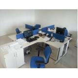 mesa para escritório com gavetas preço Cajamar