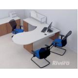 mesa para escritório de canto com gavetas preço Santana de Parnaíba