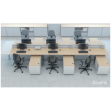 mesa para escritório de madeira preço Jandira