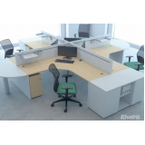 mesa para escritório em L Cajamar