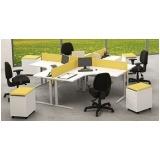 mesas de canto estação de trabalho para escritório Barueri