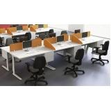 mesas de escritório estação de trabalho Jandira