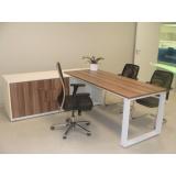 mesas para escritórios com armário Osasco