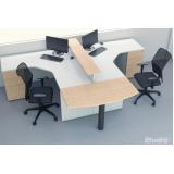 mesas para escritórios de canto com gavetas Barueri