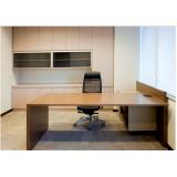 mesas para escritórios de madeira Alphaville