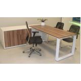 quanto custa mesa para escritório de madeira Alphaville